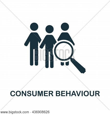 Consumer Behaviour Icon. Monochrome Sign From Customer Relationship Collection. Creative Consumer Be
