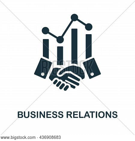 Business Relations Icon. Monochrome Sign From Customer Relationship Collection. Creative Business Re