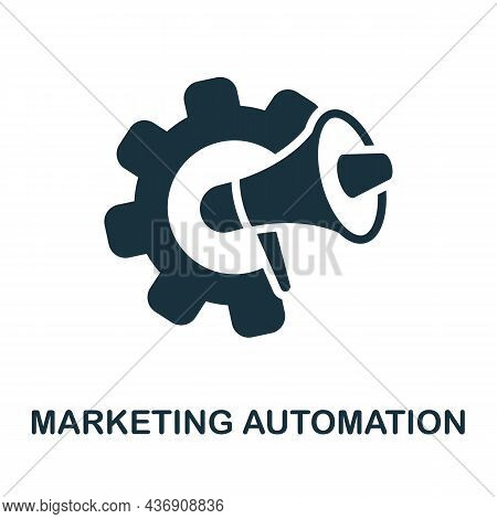 Marketing Automation Icon. Monochrome Sign From Customer Relationship Collection. Creative Marketing