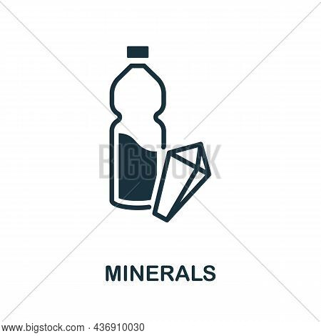 Minerals Icon. Monochrome Sign From Diet Collection. Creative Minerals Icon Illustration For Web Des