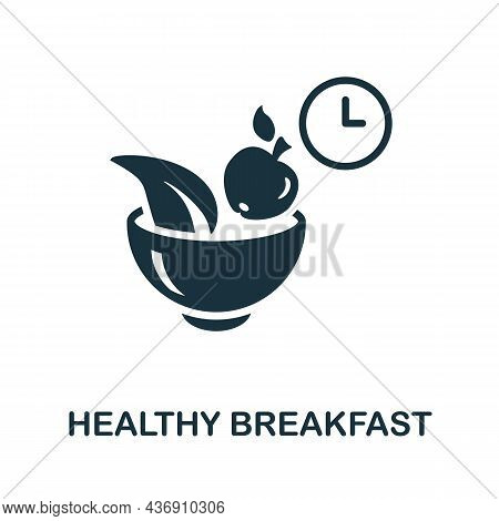 Healthy Breakfast Icon. Monochrome Sign From Diet Collection. Creative Healthy Breakfast Icon Illust