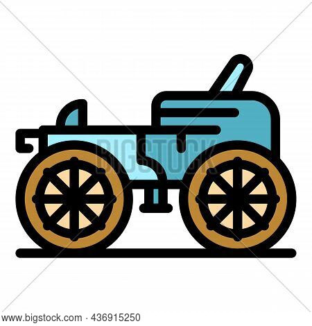 Classic Carriage Icon. Outline Classic Carriage Vector Icon Color Flat Isolated
