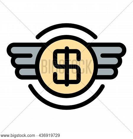 Tax Money Stack Icon. Outline Tax Money Stack Vector Icon Color Flat Isolated
