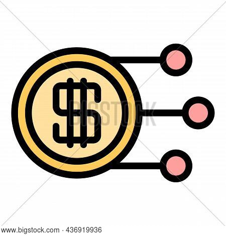 Tax Regulation Icon. Outline Tax Regulation Vector Icon Color Flat Isolated