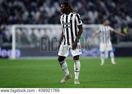 Torino, Italy. 17 October 2021. Moise Kean Of Juventus Fc  During The Serie A Match Between Juventus