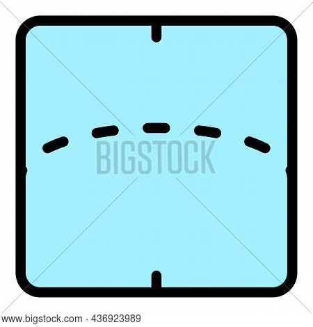 Flexible Screen Display Icon. Outline Flexible Screen Display Vector Icon Color Flat Isolated
