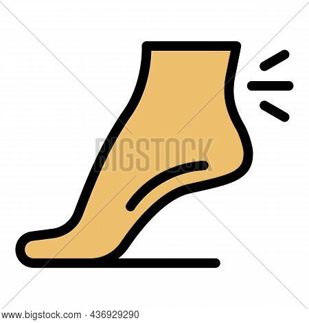 Joint Pain Legs Icon. Outline Joint Pain Legs Vector Icon Color Flat Isolated