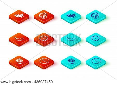 Set Shield Protecting From Virus, Corona Covid-19, Virus, 2019-ncov, And Icon. Vector