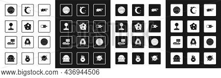 Set Falling Star, Asteroid, Joystick, Planet, Comet Falling Down Fast, Moon And Stars, Venus And Mar