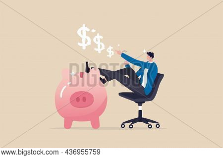 Personal Finance Expert, Success Salary Man With High Saving Rate, Investment Or Wealth Management,