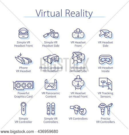 Virtual Reality Pack, User Man Head In Vr Headset