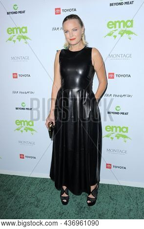 Malin Akerman at the Environmental Media Association (EMA) Awards Gala held at the GEARBOX LA in Los Angeles, USA on October 16, 2021.
