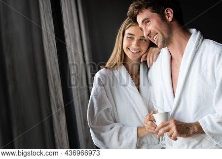 Happy Couple In Love Enjoying Wellness Weekend