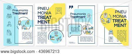 Pneumonia Cure Brochure Template. Prescribing Antibiotics, Drugs. Flyer, Booklet, Leaflet Print, Cov