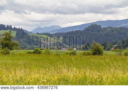 Idyllic Scenery Around Immenstadt, A Town In The Upper Allgaeu In Bavaria, Germany