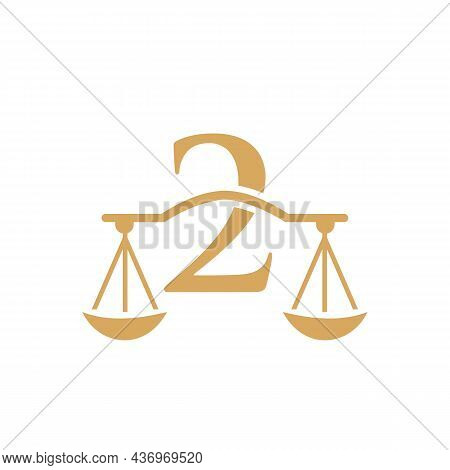 Law Firm Logo Design On Letter 2. Lawyer And Justice, Law Attorney, Legal, Lawyer Service, Law Offic