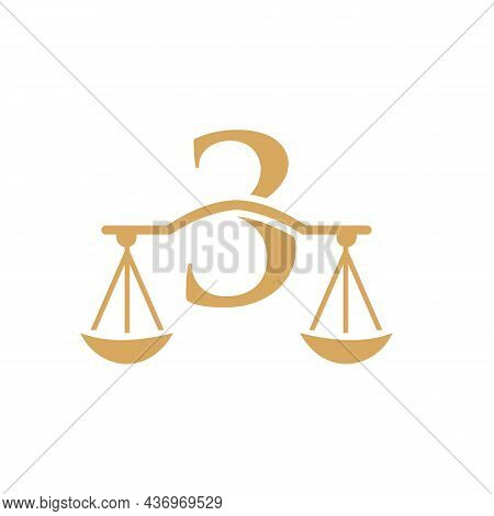 Law Firm Logo Design On Letter 3. Lawyer And Justice, Law Attorney, Legal, Lawyer Service, Law Offic
