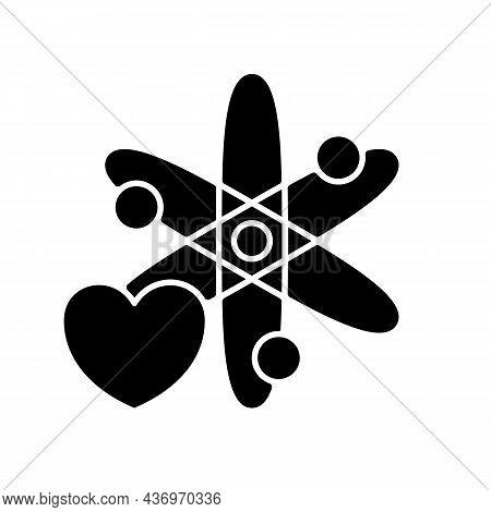 Interest In Science Black Glyph Icon. Motivation For Clinical Volunteering. Achieve Progress In Medi