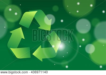 Recycling, Sustainability And Eco Environment Protection - Vector Illustration