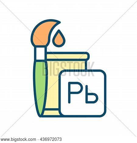 Food Color Additives Rgb Color Icon. Artificial Food Colorants Consumption. Heavy Metal Exposure. Re