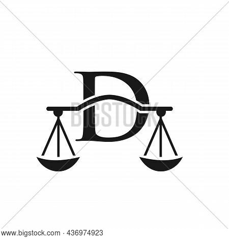 Law Firm Logo Design On Letter D. Lawyer And Justice, Law Attorney, Legal, Lawyer Service, Law Offic