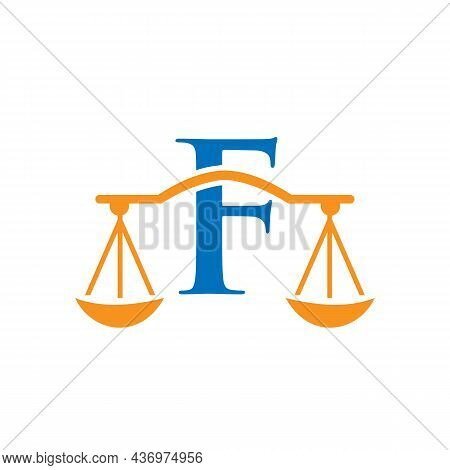 Law Firm Logo Design On Letter F. Lawyer And Justice, Law Attorney, Legal, Lawyer Service, Law Offic