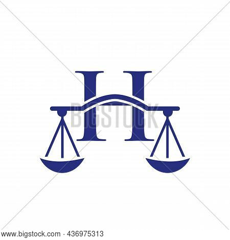 Law Firm Logo Design On Letter H. Lawyer And Justice, Law Attorney, Legal, Lawyer Service, Law Offic