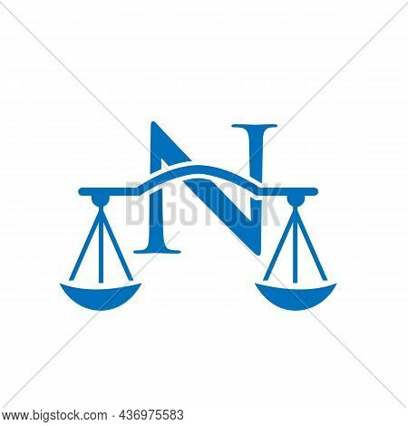 Law Firm Logo Design On Letter N. Lawyer And Justice, Law Attorney, Legal, Lawyer Service, Law Offic