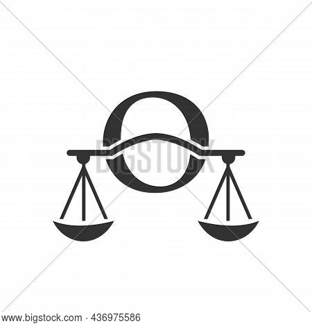 Law Firm Logo Design On Letter O. Lawyer And Justice, Law Attorney, Legal, Lawyer Service, Law Offic