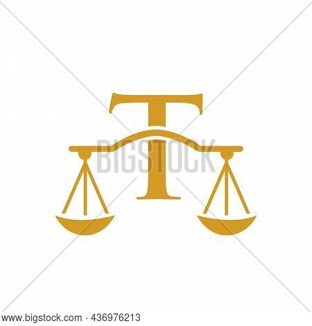 Law Firm Logo Design On Letter T. Lawyer And Justice, Law Attorney, Legal, Lawyer Service, Law Offic