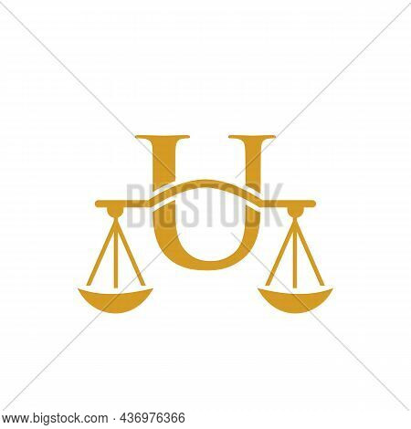 Law Firm Logo Design On Letter U. Lawyer And Justice, Law Attorney, Legal, Lawyer Service, Law Offic