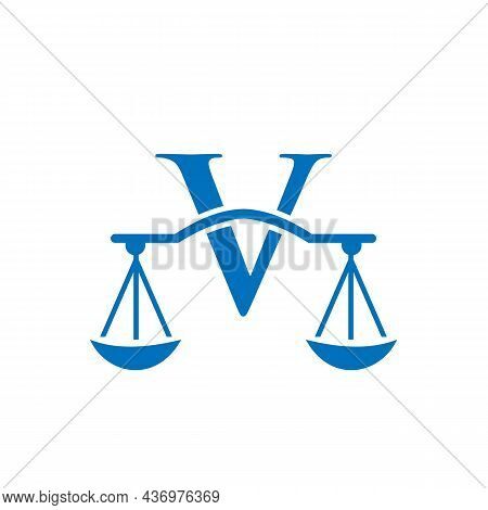 Law Firm Logo Design On Letter V. Lawyer And Justice, Law Attorney, Legal, Lawyer Service, Law Offic