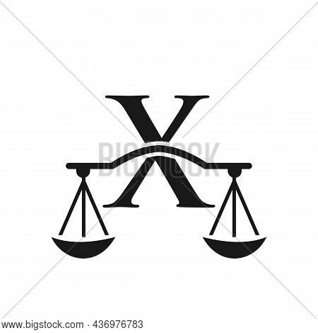 Law Firm Logo Design On Letter X. Lawyer And Justice, Law Attorney, Legal, Lawyer Service, Law Offic