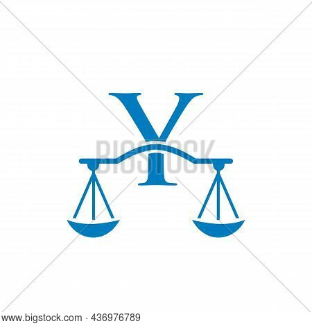 Law Firm Logo Design On Letter Y. Lawyer And Justice, Law Attorney, Legal, Lawyer Service, Law Offic
