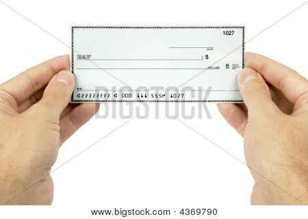 Holding A Blank Check