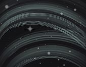 Abstract outer space - Sky and stars poster