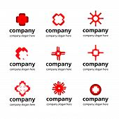 vector stylized red white logo medical pharmaceutical companies poster