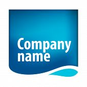 exclusive vector blue water drop logo sign poster