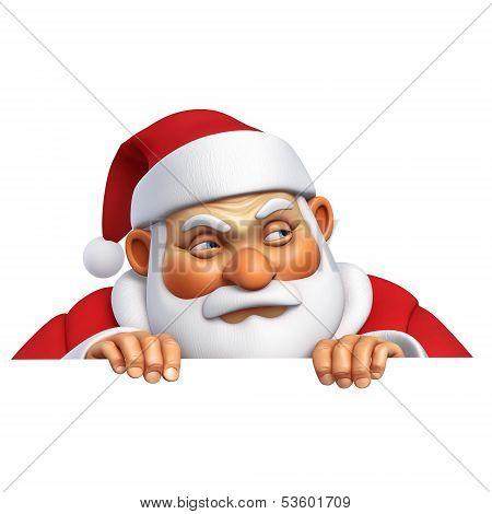 3 D Cartoon Evil Santa Claus