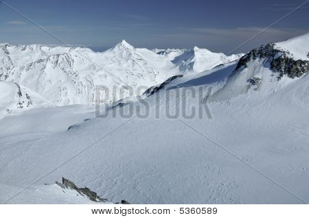 Glaciers In The Swiss Alps