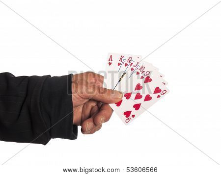 A Hand With Playing Cards