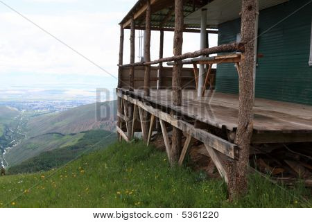 Wooden Structure On A Hill