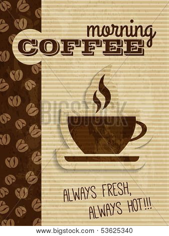 vector vintage coffee house poster