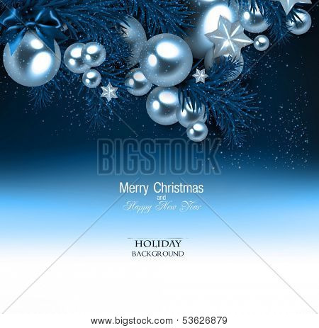 Elegant  background with Christmas garland. Vector illustration