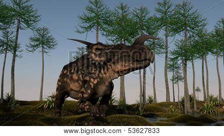 einiosaurus on shore