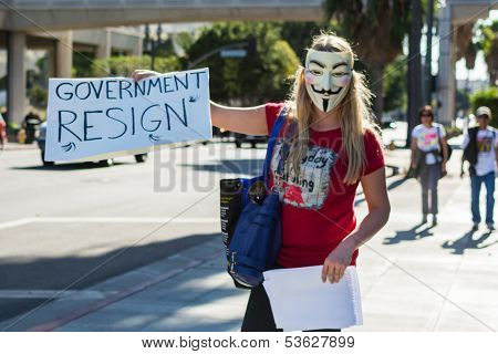 Protester rallied in the streets against corruption