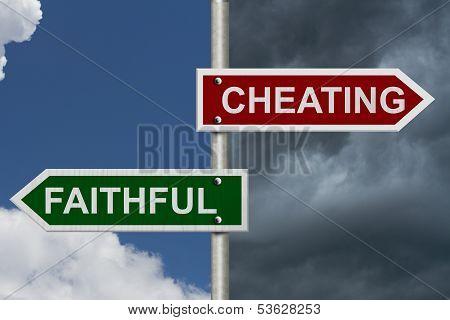 Cheating Versus Faithful
