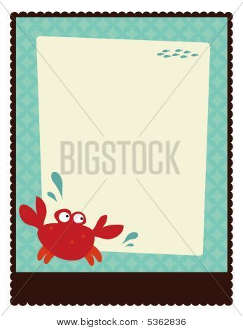 Illustration of a crab on 8.5x11 Flyer/Poster Template poster