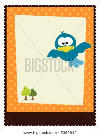 8.5x11 Flyer Poster Template with bird vector poster