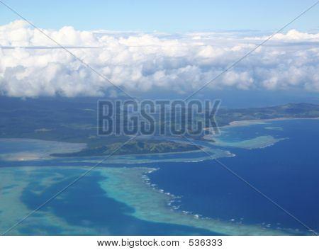 Aerial View Fiji Islands
